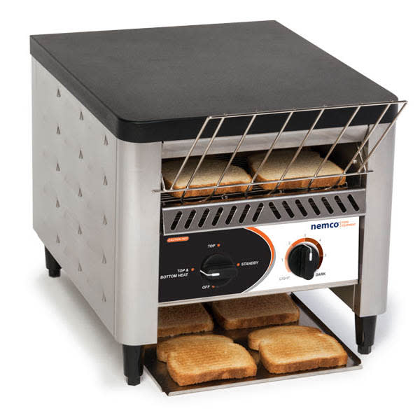 Nemco 6800 Conveyor Toaster - 300 Slices/hr w/ Load-Up Tray, 120v