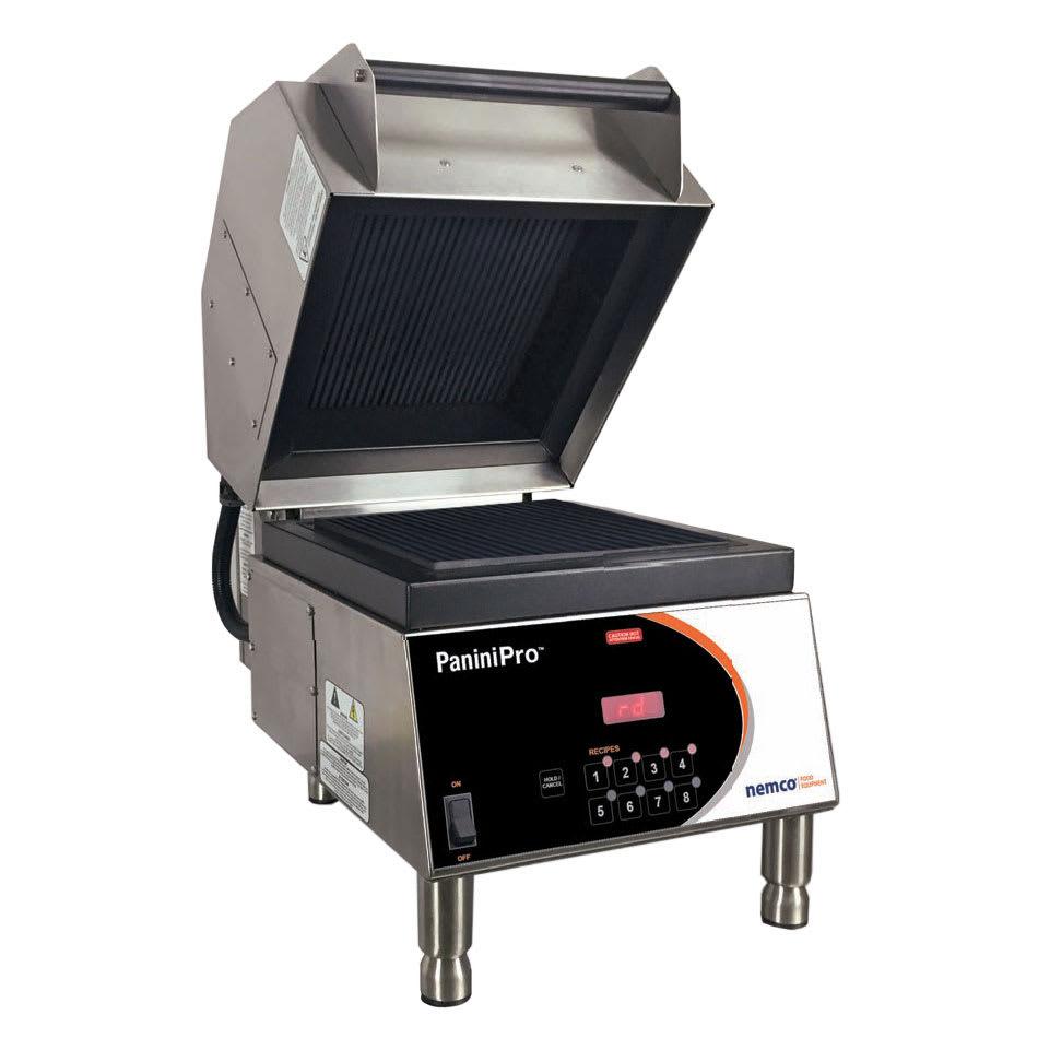 Nemco 6900-240-GG Commercial Panini Press w/ Aluminum Grooved Plates, 240v/1ph