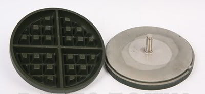 Nemco 77003 Removable Silverstone Waffle Baker Grid Set w/ Grid Post