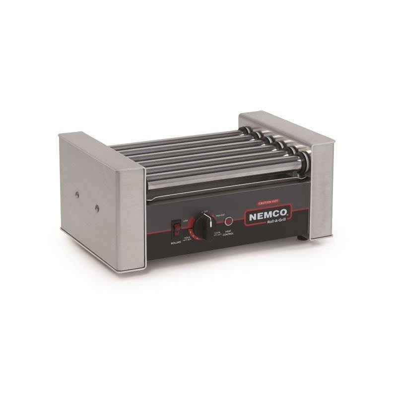 Nemco 8018SX 18 Hot Dog Roller Grill - Flat Top, 120v