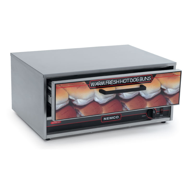 "Nemco 8027-BW-220 Moist Heat Bun Food Warmer w/ 24 Bun Capacity & 23x17.5"", 220/1V, 2 amps"