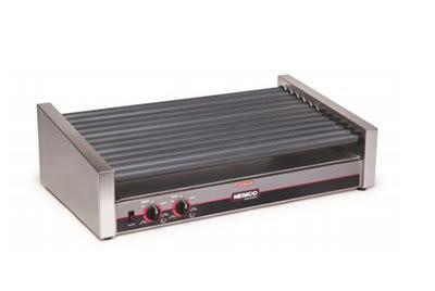 Nemco 8033SX-SLT 55 Hot Dog Roller Grill - Slanted Top, 120v