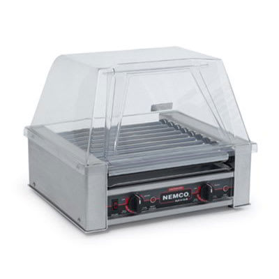 Nemco 8045SXN 45 Hot Dog Roller Grill - Flat Top, 120v