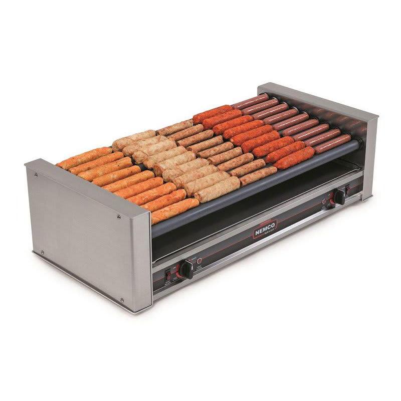 Nemco 8045SXW-SLT 45 Hot Dog Roller Grill - Slanted Top, 120v