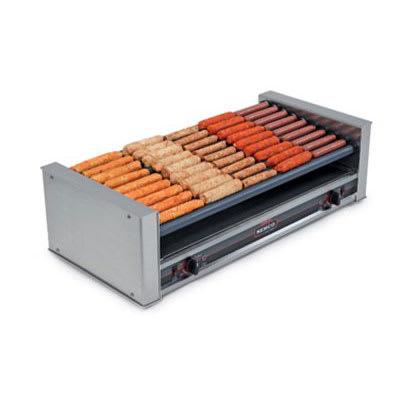Nemco 8045SXW-SLT-220 45 Hot Dog Roller Grill - Slanted Top, 220v