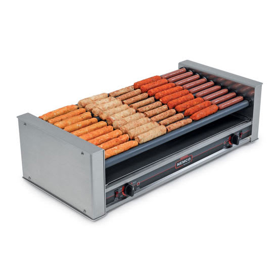 Nemco 8045W-SLT 45 Hot Dog Roller Grill - Slanted Top, 120v