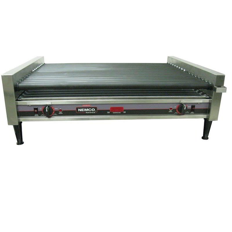Nemco 8050SX-RC 50 Hot Dog Roller Grill - Flat Top, 120v