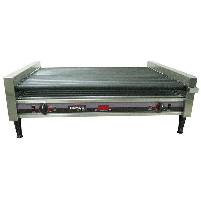 Nemco 8050SX-SLT-RC 50 Hot Dog Roller Grill - Slanted Top, 120v