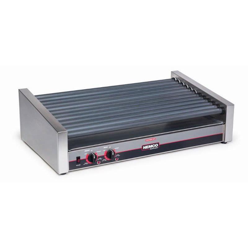 Nemco 8055SX-SLT 55 Hot Dog Roller Grill - Slanted Top, 120v