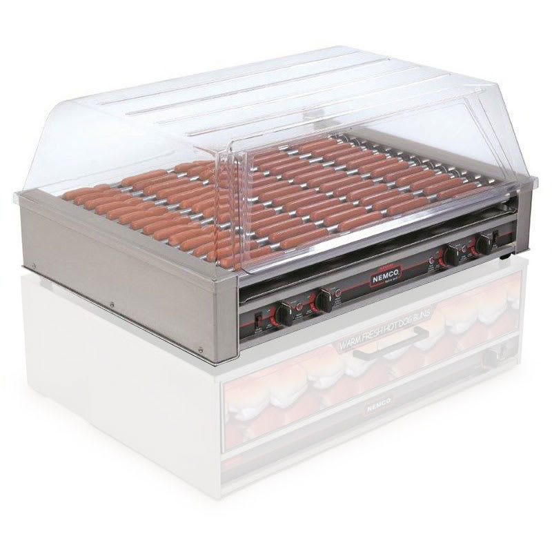 Nemco 8075SX-220 75 Hot Dog Roller Grill - Slanted Top, 220v