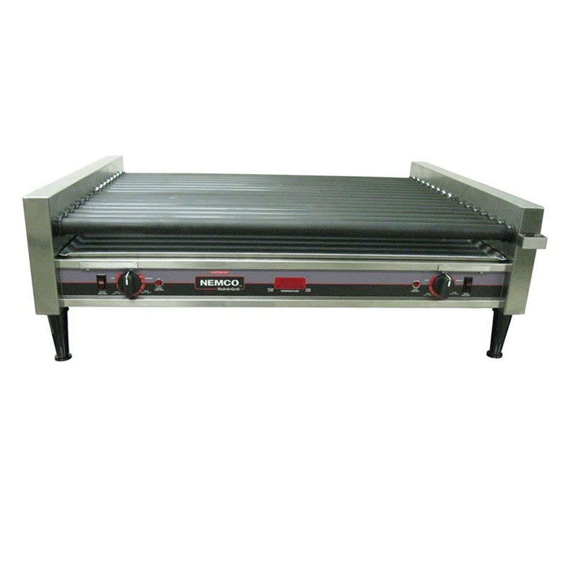 Nemco 8075SXW-RC 75 Hot Dog Roller Grill - Flat Top, 120v