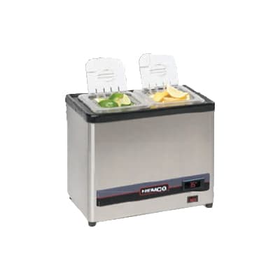 Nemco 9020-2 Dipper Style Condiment Dispenser w/ (2) Sixth-Size Pans, Digital, 120v