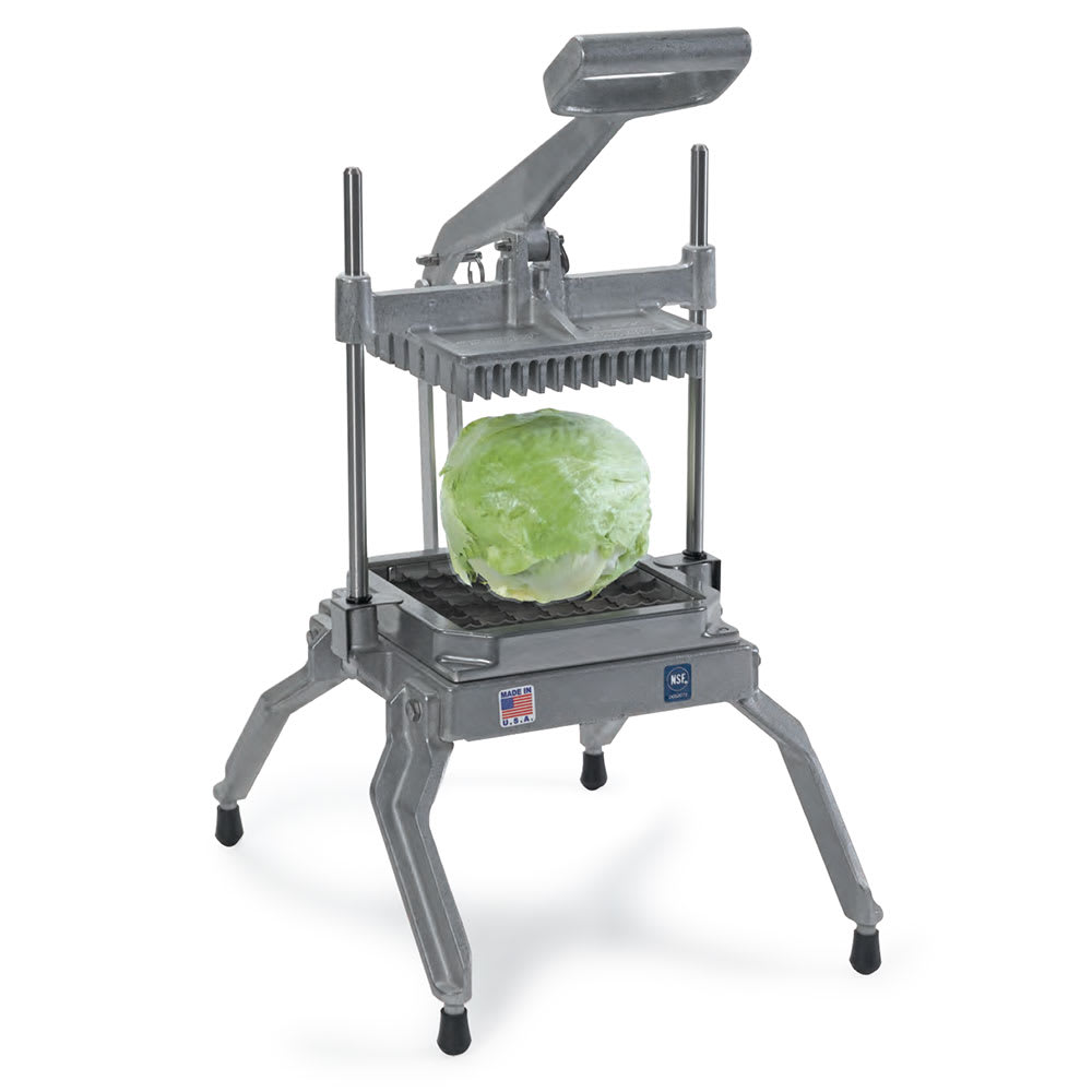 """Nemco 55650-1 Angled Lettuce Cutter w/ .50"""" Slices, Interlocked Replaceable Scalloped Blades"""