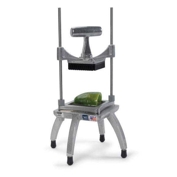 """Nemco 56500-3 Chopper II w/ 4.25"""" Cutting Area, .50"""" Square Cut & Weighted Handle, Stainless"""
