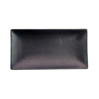 "CAC 666-13-BLK Japanese Style Rectangular Platter - 11 1/2x6 1/2x1 1/4"" Ceramic, Black"