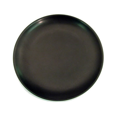 """CAC 666-21-BLK 12"""" Japanese Style Coupe Dinner Plate - Ceramic, Black"""