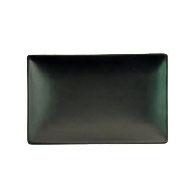 "CAC 666-33-BLK Japanese Style Rectangular Platter - 5x3 1/2x1"" Ceramic, Black"