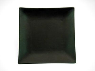 "CAC 6-S16-BLK 10"" Japanese Style Square Dinner Plate - Ceramic, Black"