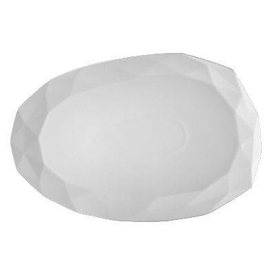 "CAC ART-41 Art Deco Platter - 13.75"" x 9.13"", Porcelain, Bone White"
