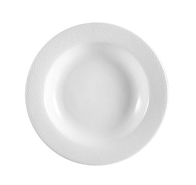 CAC BST105 16 oz Boston Pasta Bowl - Embossed Porcelain, Super White