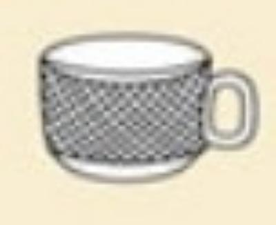 """CAC BST35 2.25"""" Boston Demitasse Cup - Embossed Porcelain, Super White"""