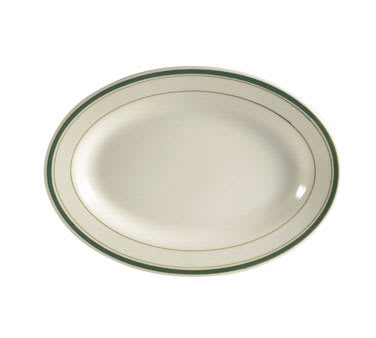 CAC GS-13 Greenbrier Platter - Plain, (3) Green Bands