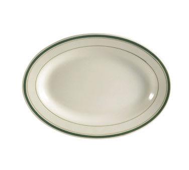 CAC GS-34 Greenbrier Platter - Plain, (3) Green Bands