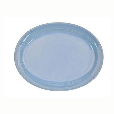CAC L-13NR-LBU Light Blue Narrow Rim Platter, Las Vegas, Oval