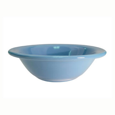 CAC LV-10-LBU Light Blue Rolled Edge Grapefruit Bowl, Las Vegas, Round