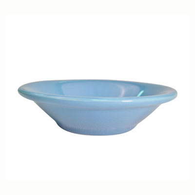 CAC LV-11-LBU Light Blue Rolled Edge Fruit Dish, Las Vegas, Round