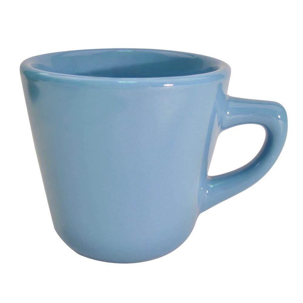 CAC LV-1-LBU Light Blue Rolled Edge Coffee Cup, Las Vegas, Round