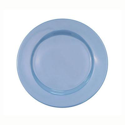 CAC LV-9-LBU Light Blue Rolled Edge Dinner Plate, Las Vegas, Round
