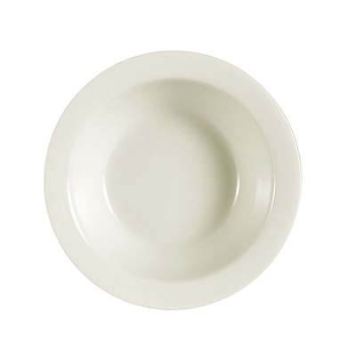 CAC NRC-11 American White Narrow Rim Fruit Dish, NRC, Round