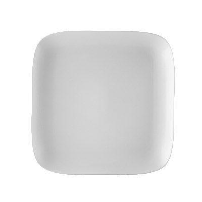 "CAC OXF-C20 11.38"" Square Oxford Plate - Porcelain, New Bone White"