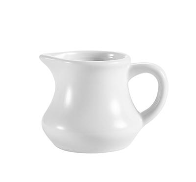 CAC PC4 4 oz Accessories Creamer with Handle - 4 oz, Porcelain, Super White
