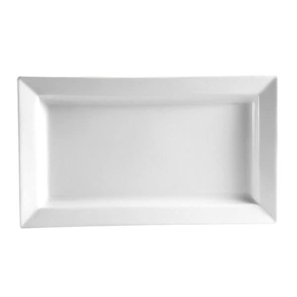 "CAC PNS-41 Rectangular Princesquare Platter - 14"" x 7"", Porcelain, Super White"