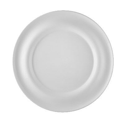 """CAC PS-E21 12.63"""" Round Eiffel Dipping Plate - Porcelain, New Bone White"""