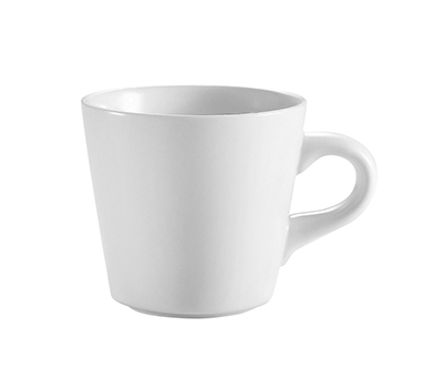 CAC RCN-1 Super White Coffee Cup, Clinton, Round