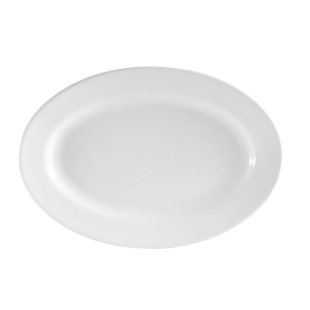 "CAC RCN-34 Oval Platter - 9.38"" x 6.13"", Porcelain, Super White"