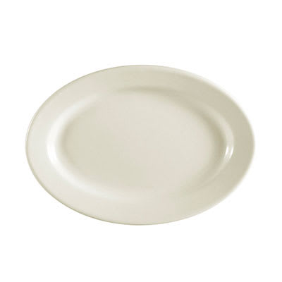 CAC REC-13 American White Rolled Edge Platter, REC, Oval