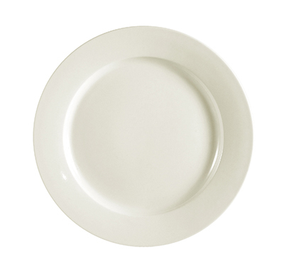 CAC REC-16 American White Rolled Edge Dinner Plate, REC, Round