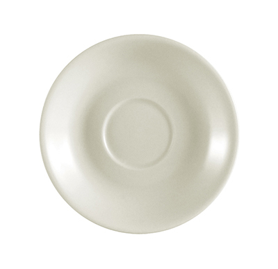 CAC REC-36 American White Rolled Edge Saucer, REC, Round