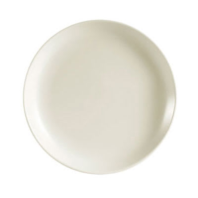 CAC REC-5C American White Coupe/Sheer Bread Plate, REC, Round