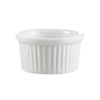 CAC RKF3W 3-oz RKF Ramekin - Fluted, Porcelain, Super White