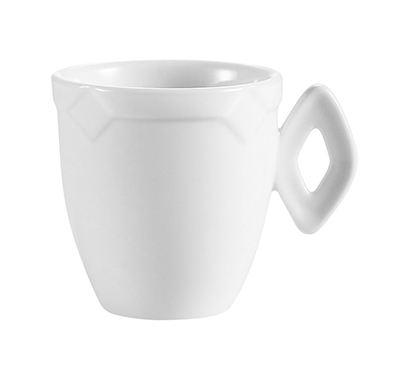 """CAC TMS35 2.25"""" Times Square Demitasse Cup - Porcelain, Super White"""