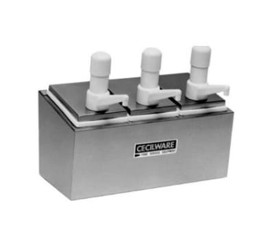 Cecilware 344S Pump Style Condiment Dispenser w/ (3) 1-oz/Stroke, Stainless