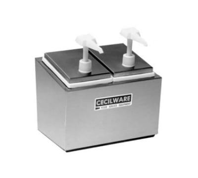 Cecilware 444E Pump Style Condiment Dispenser w/ (4)1-oz/Stroke, Stainless