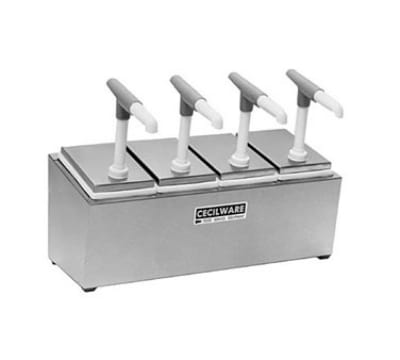Cecilware 444G Pump Style Condiment Dispenser w/ (4) 1-oz/Stroke, Stainless