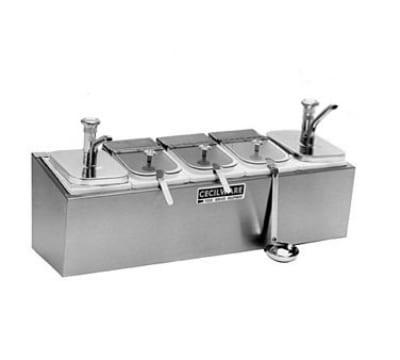 Cecilware 544MC Pump Style Condiment Dispenser w/ (2) 2-oz/Stroke & (3) Ladles