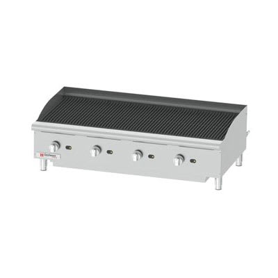 "Cecilware CCP48 48"" Countertop Gas Charbroiler w/ Cast Iron Grates, (4) Burner"